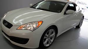 2011 white hyundai genesis coupe 2d coupe n2721b youtube