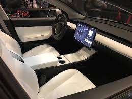 Tesla Interior Model S Tesla Model 3 Interior Thoughts