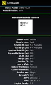 screeninfo android apps on google play