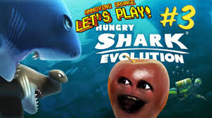 midget apple plays hungry shark evolution 3 the great white