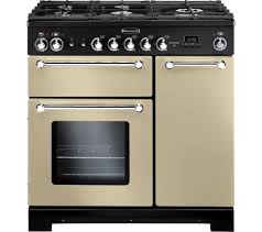 buy rangemaster kitchener 90 dual fuel range cooker cream rangemaster kitchener 90 dual fuel range cooker cream chrome