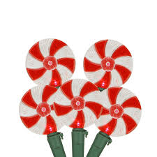 set of 20 peppermint twist and white led