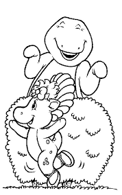 barney coloring pages coloringpages1001