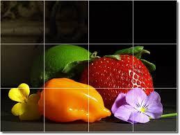 Fruit Decor For Kitchen Fruits Vegetables Image Kitchen Tiles Floor Decor Inter