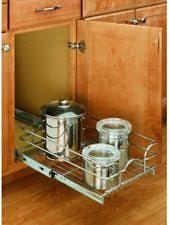 Under Cabinet Sliding Shelves Pull Out Basket Ebay