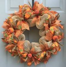 Thanksgiving Wreath Craft Deco Mesh And Ribbon Autumn Wreath Craft Deco Mesh Wreath