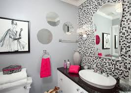ideas on decorating a bathroom picture wall ideas open concept medium tone wood floor and brown