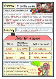 plans for a house worksheet free esl printable worksheets made
