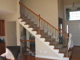 Banister Rail And Spindles Staircase Spindle Vs Halfwall