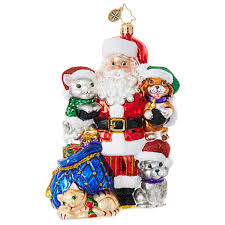 paws for claus 1018659 christopher radko ornament