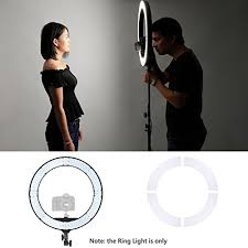 camera and lighting for youtube videos neewer 18 inches 55w led ring light dimmable bi color lighting kit