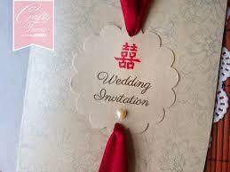 Asian Wedding Invitation Wedding Card Malaysia Crafty Farms Handmade Asian Red Double