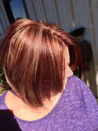 short cut tri color hair red and gold highlights fashion blog