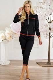 black and white jumpsuit for black sleeve scoop neckline striped design two jumpsuit