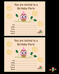 Birthday Card Invitations Ideas Free Printable Owl Birthday Party Invitations