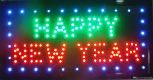 led new years 2018 2015 hot sale customize imput signs led neon happy new year