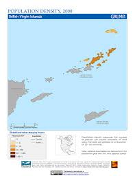 Map Of The Virgin Islands Maps Population Density Grid V1 Sedac