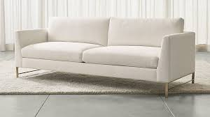Crate And Barrel Sofa Cushion Replacement Genesis Sofa With Brushed Brass Base Crate And Barrel