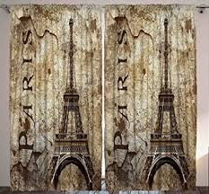 Paris Decor Amazon Com Paris Decor For Bedroom Curtains City Decor Living