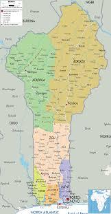 Kbcc Map Map Of Benin Travelsmaps Com