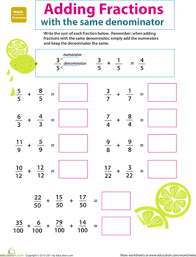 equivalent fractions worksheet education com