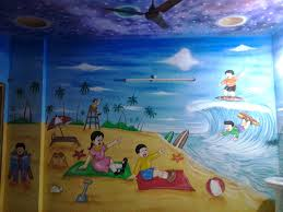 Room To Go For Kids Play Wall Painting 3d Cartoon Theme Paintingkids Room