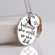 she believed she could so she did inspirational necklace goalcast
