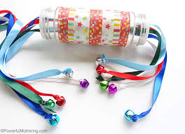 pull ribbon ribbon pulling spice bottle with bells christmas busy bags