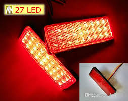universal led tail lights 2018 red lens rectangle red led reflectors brake light for universal