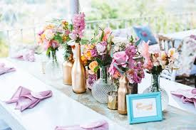 Backyard Wedding Centerpiece Ideas Eclectic Backyard Wedding Reception Decor Vintage Elements