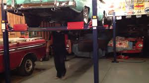 backyard buddy car lift with 1955 crown victoria youtube