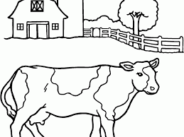 free cow coloring pages coloring page for kids