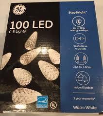 ge led christmas lights ge 100ct staybright c5 led christmas light string set warm white