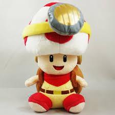 super mario plush sitting captain toad