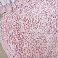 5 ft round pale pink ruffle rug nursery rugs u2013 jack and jill