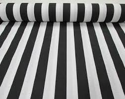Blue And White Striped Upholstery Fabric Striped Curtains Etsy