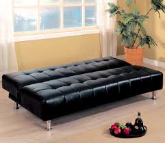 Castro Convertible Sleeper Sofa by Furniture Armless Black Leather Tufted Convertible Sofa Bed
