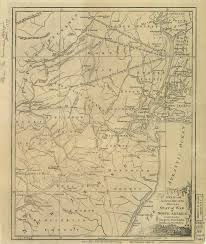 New Jersey On A Map Of The Usa by Historical New Jersey Revolutionary War Maps