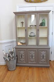 antique hutch with glass doors curio cabinet stunning vintage curio cabinets image design