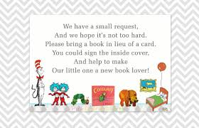 instead of a card bring a book book request cards bring a book in lieu of a card baby