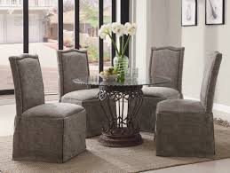 Grey Fabric Dining Room Chairs Dining Room Fair Designs With Fabric Covered Dining Room Chairs