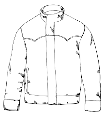 j coloring pages jacket coloring page