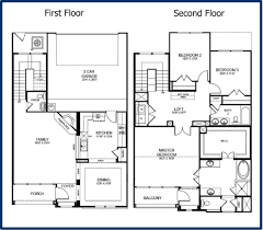narrow lot house plans with front garage balcony off master