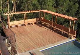 craftsman wood pool deck with arbor u0026 bench a malibu deck builder