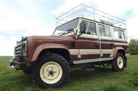original land rover defender rare 1983 land rover defender county station wagon heads to auction