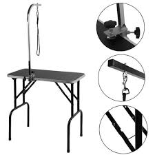 large dog grooming table portable large dog pet grooming table foldable steel frame 2