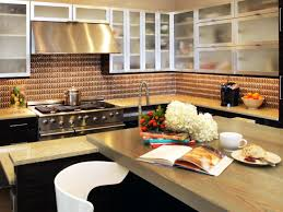 Brown Subway Travertine Backsplash Brown Cabinet by Painting Kitchen Backsplashes Pictures U0026 Ideas From Hgtv Hgtv