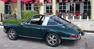 Porsche 912 Targa Dark Green With Black Interior Superb Car