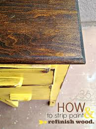 How To Refinish Desk How To Strip And Refinish Wood The 36th Avenue
