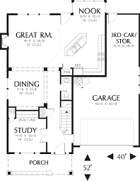 2200 Sq Ft House Plans by Craftsman Style House Plan 4 Beds 2 50 Baths 1946 Sq Ft Plan 48 115